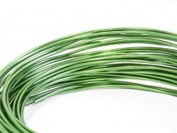 10 m of aluminium wire - dark green