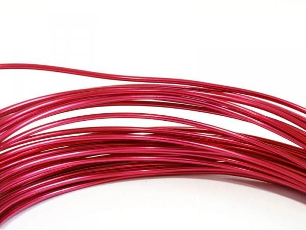 10 m de fil aluminium - rose fushia  - 1