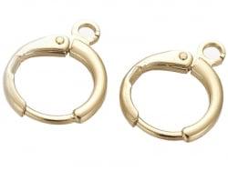 Acheter Paire dormeuses rondes à breloque - doré à l'or fin - 1,99€ en ligne sur La Petite Epicerie - Loisirs créatifs