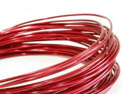 10 m of aluminium wire - red
