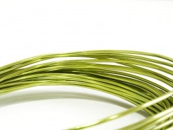 10 m of aluminium wire - light green