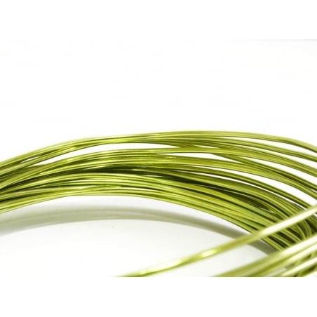 10 m de fil aluminium - vert clair  - 1
