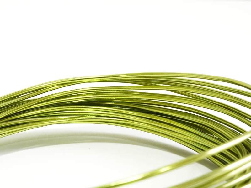 10 m of aluminium wire - light green