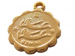 Acheter Médaille astro OR FIN - Gémeaux - 3,99€ en ligne sur La Petite Epicerie - Loisirs créatifs