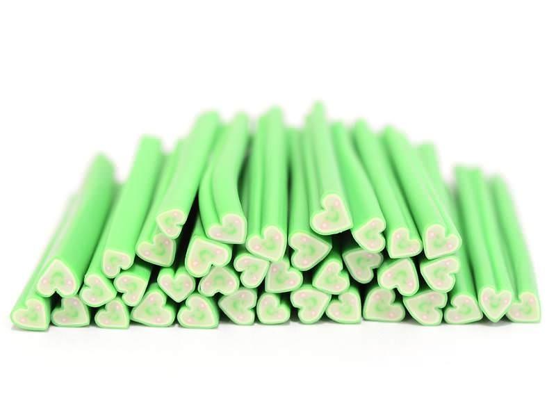 Cane coeur happy vert- en pâte fimo - à trancher