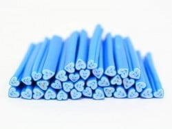 Cane coeur happy bleu