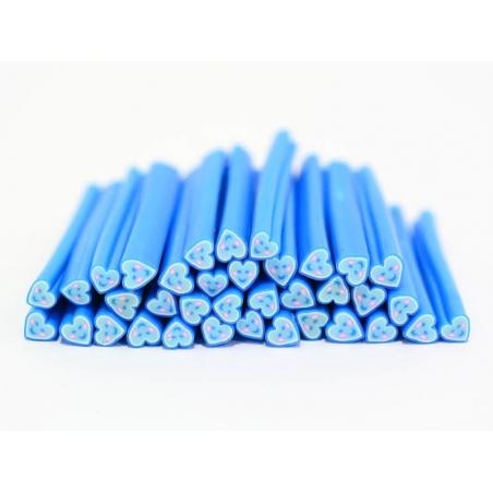 Cane coeur happy bleu- en pâte fimo - à trancher