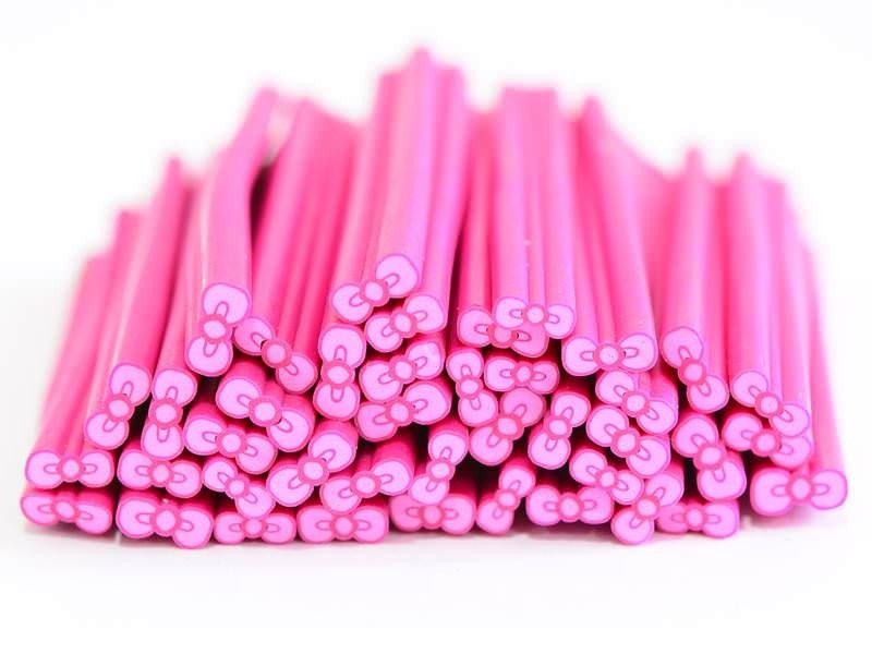 Bow cane - pink