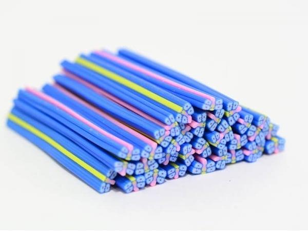 Acheter Cane papillon bleu à fleurs en pâte polymère - 0,99€ en ligne sur La Petite Epicerie - 100% Loisirs créatifs