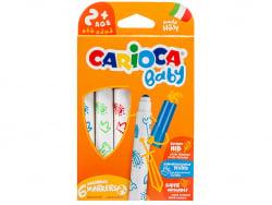 Acheter Set de 6 feutres 2+ - Carioca Baby - 2,59€ en ligne sur La Petite Epicerie - Loisirs créatifs