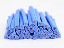 Cane ourson bleu en pâte polymère