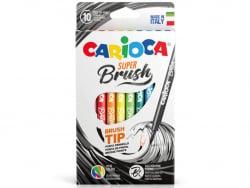 Acheter Set de 10 feutres Brush - Carioca Super Brush - 4,49€ en ligne sur La Petite Epicerie - 100% Loisirs créatifs