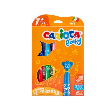 Acheter Set de 12 feutres marqueurs 1+ - Carioca Baby Teddy - 12,49€ en ligne sur La Petite Epicerie - Loisirs créatifs