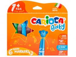 Acheter Set de 6 feutres marqueurs 1+ - Carioca Baby Teddy - 6,49€ en ligne sur La Petite Epicerie - Loisirs créatifs