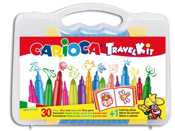 Acheter Valise de voyage 30 feutres + 1 album à colorier - Carioca Travel Kit - 11,99€ en ligne sur La Petite Epicerie - 100...