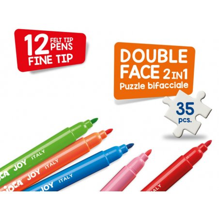 Acheter Puzzle double face à colorier + 12 feutres - Princesse magique - 14,99€ en ligne sur La Petite Epicerie - 100% Loisi...