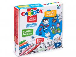 Acheter Puzzle double face à colorier + 12 feutres - Super-héros - 14,99€ en ligne sur La Petite Epicerie - 100% Loisirs cré...