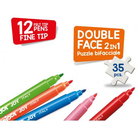 Acheter Puzzle double face à colorier + 12 feutres - Super-héros - 14,99€ en ligne sur La Petite Epicerie - Loisirs créatifs