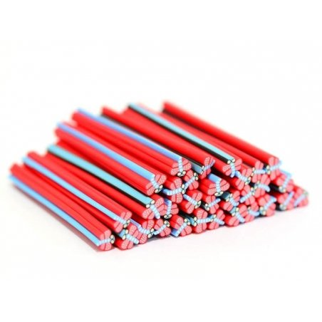 Dragonfly cane - red and blue