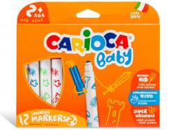 Acheter Set de 12 feutres 2+ - Carioca Baby - 4,99€ en ligne sur La Petite Epicerie - Loisirs créatifs