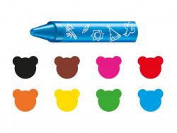 Acheter 8 pastels souples hydrosolubles 2+ - Carioca Baby Wild - 5,49€ en ligne sur La Petite Epicerie - Loisirs créatifs