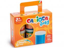 Acheter Set de 6 peintures à doigts - Carioca - 9,99€ en ligne sur La Petite Epicerie - Loisirs créatifs
