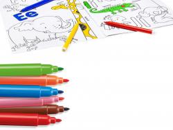 Acheter Pochette de coloriage : album à colorier + 10 feutres - Alphabets et numéros - 6,99€ en ligne sur La Petite Epicerie...