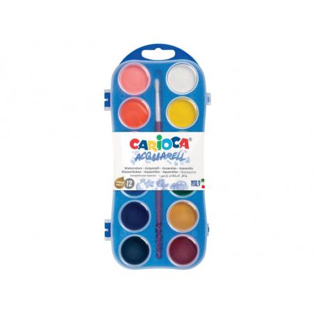 Acheter Palette d'aquarelle - 12 couleurs - Carioca - 2,59€ en ligne sur La Petite Epicerie - Loisirs créatifs