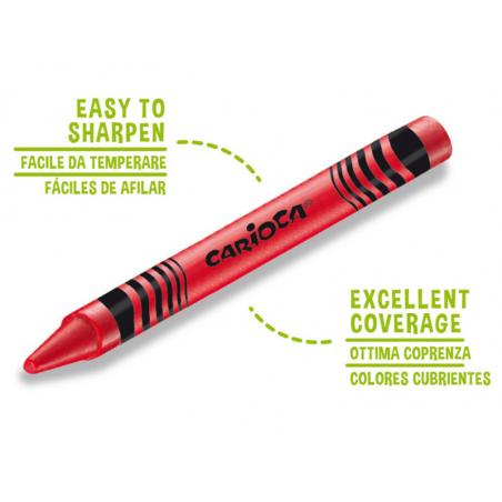 Acheter 24 pastels à la cire - Carioca Wax - 2,19€ en ligne sur La Petite Epicerie - 100% Loisirs créatifs