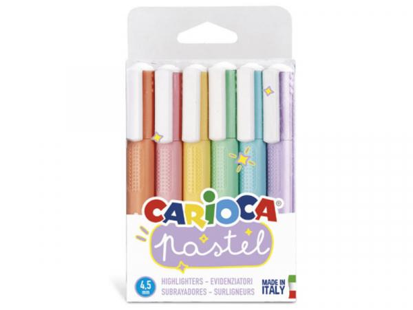 Acheter 6 surligneurs pastel - Carioca Pastel - 4,59€ en ligne sur La Petite Epicerie - 100% Loisirs créatifs