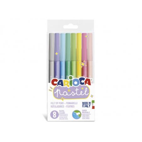 Acheter Set de 8 feutres pastel - Carioca - 2,99€ en ligne sur La Petite Epicerie - 100% Loisirs créatifs