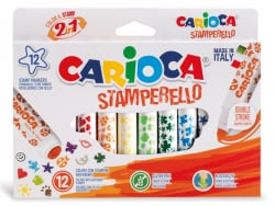 Acheter Set de 12 feutres double pointe - Carioca Stamperello - 8,49€ en ligne sur La Petite Epicerie - Loisirs créatifs