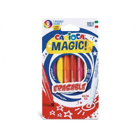 Acheter Pochette de 8 feutres à l'encre magique - Carioca Magic Erasable - 2,99€ en ligne sur La Petite Epicerie - 100% Lois...