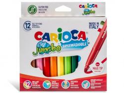 Acheter Pochette de 12 feutres Jumbo - Carioca - 4,99€ en ligne sur La Petite Epicerie - Loisirs créatifs