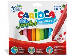 Acheter Pochette de 10 feutres Jumbo - Carioca - 3,99€ en ligne sur La Petite Epicerie - Loisirs créatifs