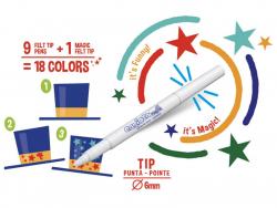 Acheter Pochette de 10 feutres à l'encre magique - Carioca Magic Color Change - 3,69€ en ligne sur La Petite Epicerie - 100%...