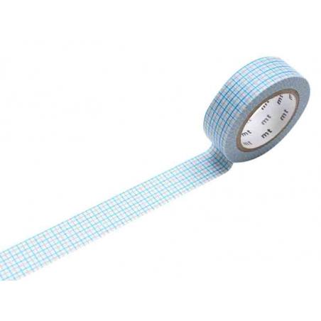 Acheter Masking tape motif - Quadrillé bleu et gris - 2,65€ en ligne sur La Petite Epicerie - Loisirs créatifs