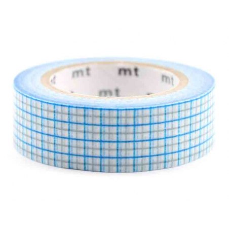 Acheter Masking tape motif - Quadrillé bleu et gris - 3,30€ en ligne sur La Petite Epicerie - Loisirs créatifs
