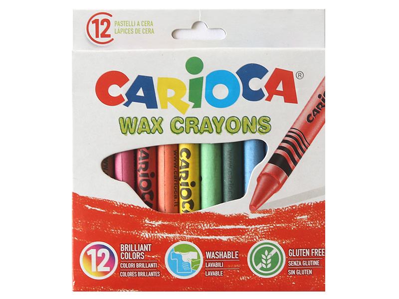 Acheter 12 pastels à la cire - Carioca Wax - 1,09€ en ligne sur La Petite Epicerie - Loisirs créatifs