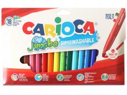 Acheter Pochette de 18 feutres Jumbo - Carioca - 7,29€ en ligne sur La Petite Epicerie - Loisirs créatifs
