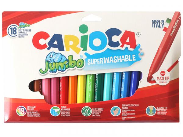 Acheter Pochette de 18 feutres Jumbo - Carioca - 7,29€ en ligne sur La Petite Epicerie - 100% Loisirs créatifs