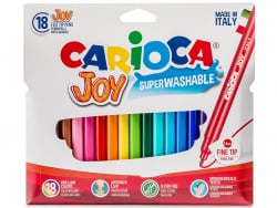 Acheter Pochette de 18 feutres ultra lavables - Carioca Joy - 3,39€ en ligne sur La Petite Epicerie - Loisirs créatifs