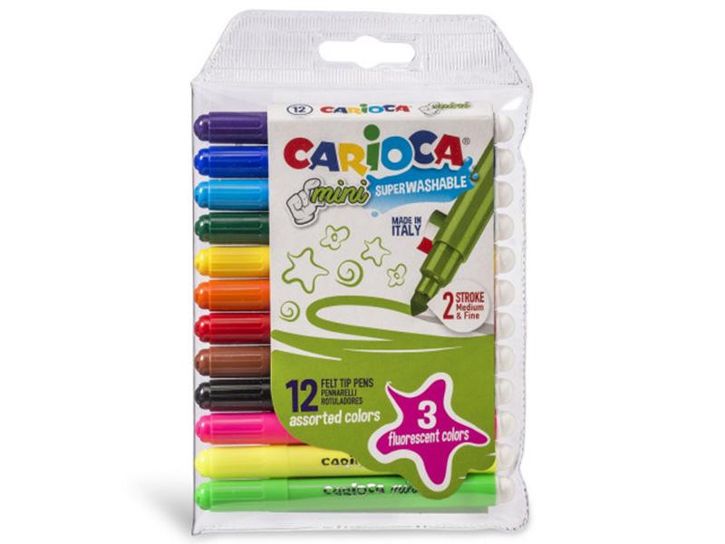 Acheter Pochette de 12 mini feutres - Carioca Mini - 3,39€ en ligne sur La Petite Epicerie - 100% Loisirs créatifs