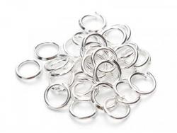 Acheter 20 anneaux 4mm - plaqué argent 925 - 1,49€ en ligne sur La Petite Epicerie - Loisirs créatifs