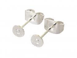Acheter Paire de puces d'oreilles avec embouts - plaqué argent 925 - 1,49€ en ligne sur La Petite Epicerie - Loisirs créatifs