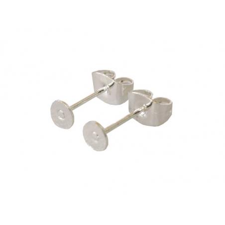 Acheter Paire de puces d'oreilles avec embouts - flash argent 925 - 1,49€ en ligne sur La Petite Epicerie - Loisirs créatifs