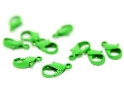 1 fermoir mousqueton vert 1,2 cm  - 1