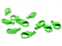 1 green lobster clasp, 1.2 cm