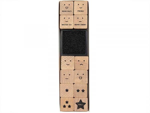 Acheter Kit de 12 tampons expressions - 8,99€ en ligne sur La Petite Epicerie - 100% Loisirs créatifs