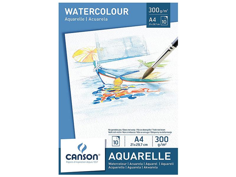 Acheter Bloc papier blanc Canson Aquarelle A4 - 300g/m² - 6,99€ en ligne sur La Petite Epicerie - 100% Loisirs créatifs